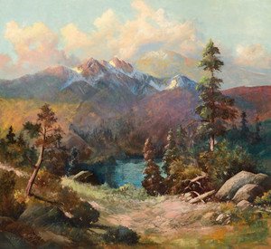 Art prints of Rocky Mountains by Charles Partridge Adams