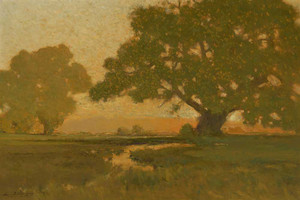 Art prints of Summer Sun at the Horizon by Charles Partridge Adams