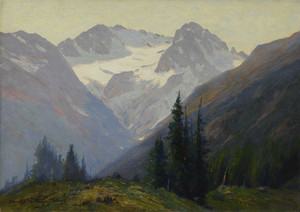 Art prints of The Arapahoe Peaks, Colorado by Charles Partridge Adams