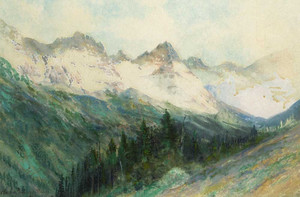 Art prints of The Colorado Rockies by Charles Partridge Adams