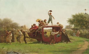 Art prints of The Old Stagecoach by Eastman Johnson