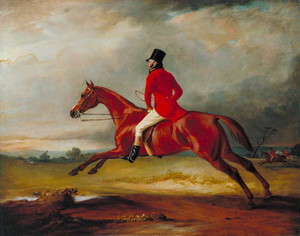 Art prints of Major Healey Riding with the Sedgefield Hunt by John Ferneley