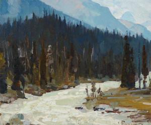 Art prints of Mountain Stream, Alberta by Carl Rungius