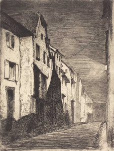 Art prints of Street at Saverne by James Abbott McNeill Whistler