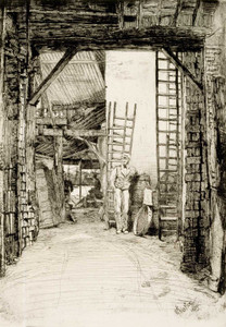 Art prints of The Lime Burner by James Abbott McNeill Whistler