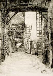 Art prints of The Lime Burner by James Abbott McNeill Whistler