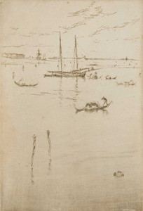 Art prints of The Little Lagoon from the Twelve Etchings by James Abbott McNeill Whistler