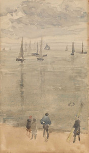 Art prints of The Return of the Fishing Boats by James Abbott McNeill Whistler