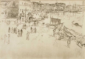 Art prints of The Riva No 1 by James Abbott McNeill Whistler