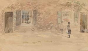 Art prints of Village Shop, Chelsea by James Abbott McNeill Whistler