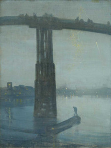 Art prints of Nocturne Blue & Gold, Old Battersea Bridge by James Abbott McNeill Whistler