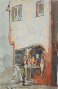 Art prints of Boutique de Boucher, the Butchers Shop by James Abbott McNeill Whistler