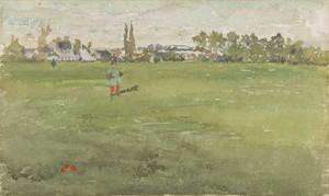 Art prints of Green and Silver, Beaulieu Touraine by James Abbott McNeill Whistler