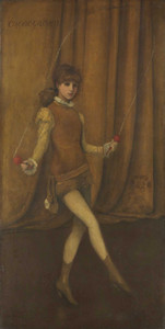Art prints of Harmony in Yellow and Gold, the Gold Girl Connie Gilchrist by James Abbott McNeill Whistler