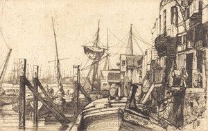Art prints of Limehouse by James Abbott McNeill Whistler