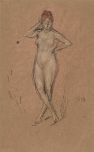 Art prints of Nude Standing with Legs Crossed by James Abbott McNeill Whistler