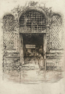 Art prints of The Doorway by James Abbott McNeill Whistler