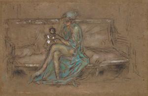 Art prints of The Green Cap by James Abbott McNeill Whistler