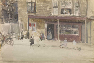 Art prints of The Shop, an Exterior by James Abbott McNeill Whistler