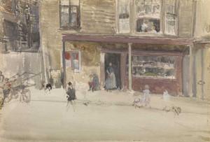 Art prints of The Shop, an Exterior by James Abbott McNeill Whistler
