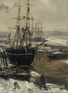 Art prints of The Thames in Ice by James Abbott McNeill Whistler