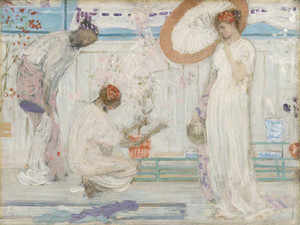 Art prints of The White Symphony, Three Girls by James Abbott McNeill Whistler