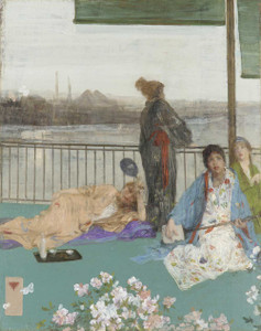 Art prints of Variations in Flesh Colour and Green, the Balcony by James Abbott McNeill Whistler