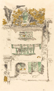 Art prints of Yellow House, Lannion by James Abbott McNeill Whistler