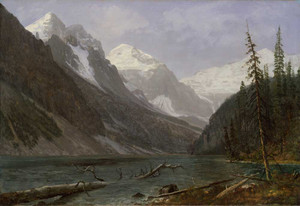 Art prints of Canadian Rockies, Lake Louise by Albert Bierstadt