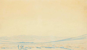 Art prints of Desert with Prospector Coachella Valley by Maynard Dixon