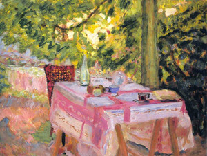 Art prints of Table Set in a Garden by Pierre Bonnard