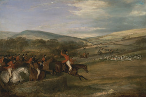 Art prints of The Berkeley Hunt, 1842, Full Cry by Francis Calcraft Turner