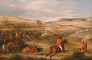 Art prints of The Berkeley Hunt, 1842, The Chase by Francis Calcraft Turner