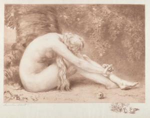 Art prints of Eve Repentant by Anna Lea Merritt