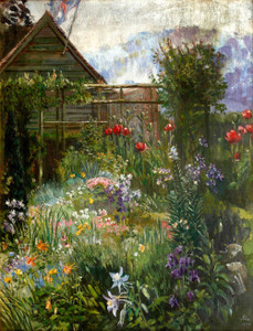 Art prints of A Garden in Spring by Anna Lea Merritt