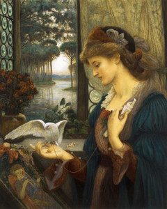 Art prints of Loves Messenger by Marie Spartali Stillman