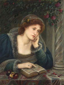 Art prints of Beatrice, 1895 by Marie Spartali Stillman