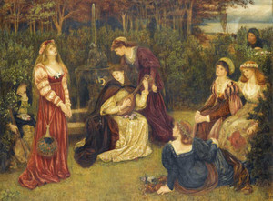 Art prints of Fiammetta Singing by Marie Spartali Stillman