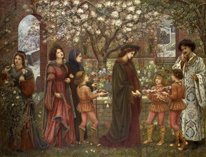 Art prints of The Enchanted Garden of Messer Ansaldo by Marie Spartali Stillman