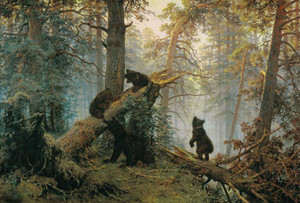 Art prints of Morning in a Pine Forest by Ivan Shishkin