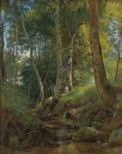 Art prints of The Brook by Ivan Shishkin