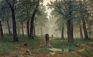 Art prints of Rain in Oak Forest by Ivan Shishkin