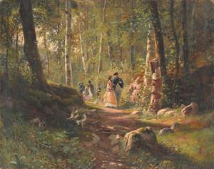 Art prints of Walk in the Forest by Ivan Shishkin