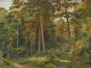 Art prints of The Mill in the Forest by Ivan Shishkin