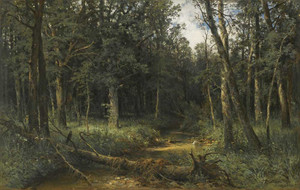 Art prints of The Dark Wood by Ivan Shishkin