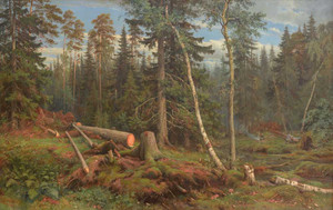 Art prints of Lumbering by Ivan Shishkin