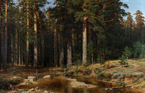 Art prints of Ship Grove by Ivan Shishkin