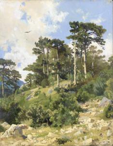 Art prints of Wooded Landscape by Ivan Shishkin