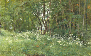 Art prints of Flowers at the Edge of the Forest by Ivan Shishkin