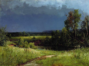 Art prints of Before a Thunderstorm by Ivan Shishkin